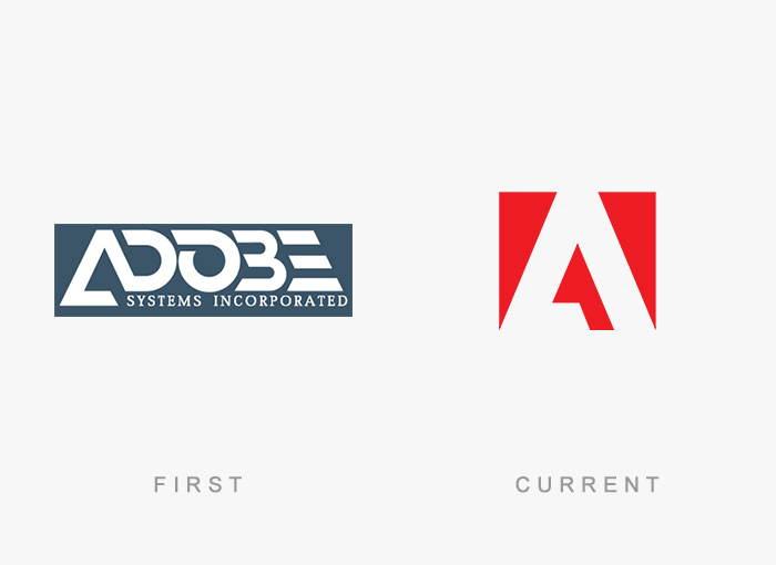 Adobe Systems old and new logo