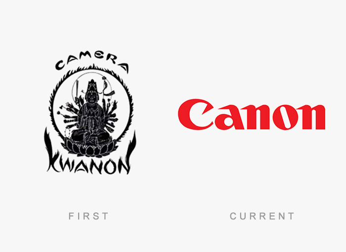 Canon old and new logo