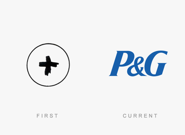 Procter And Gamble old and new logo