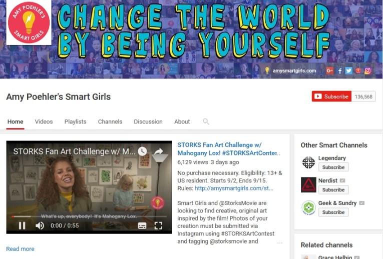 Amy Poehler Smart Girls Youtube Channel