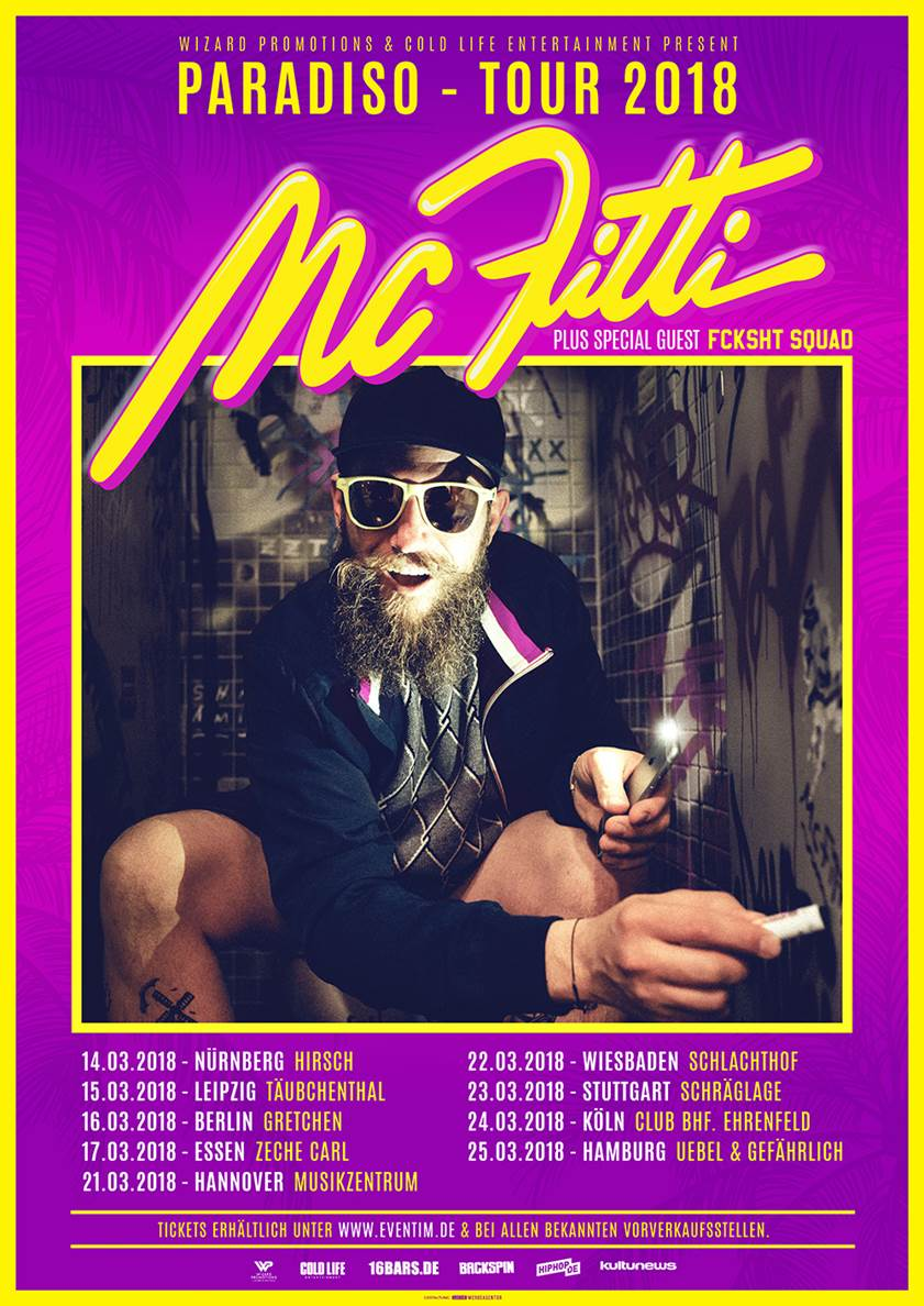 Paradiso Bettdecken Mc Fitti Paradiso Tour 2018 Wizard Promotions