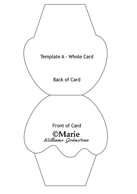 Cupcake Card Template and Tutorial - free cards templates