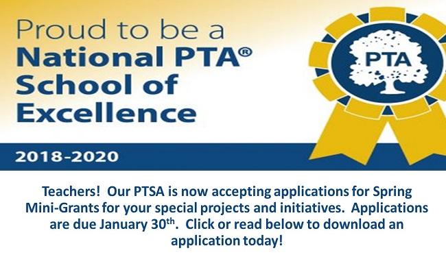 Apply Today for a PTSA Mini-Grant \u2013 Jamestown High School