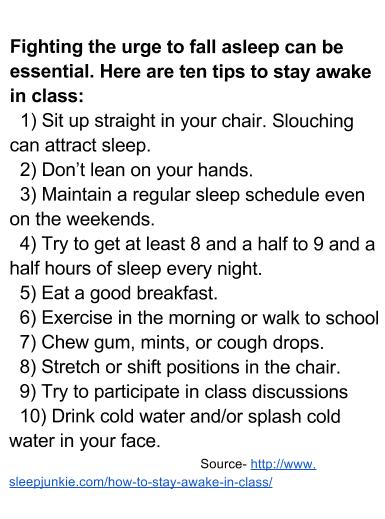 Tips to Stay Awake in Class WJPS Blazer voice of the students