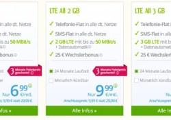 günstige Allnet Flat + SMS Flat + 1GB LTE Surfflat
