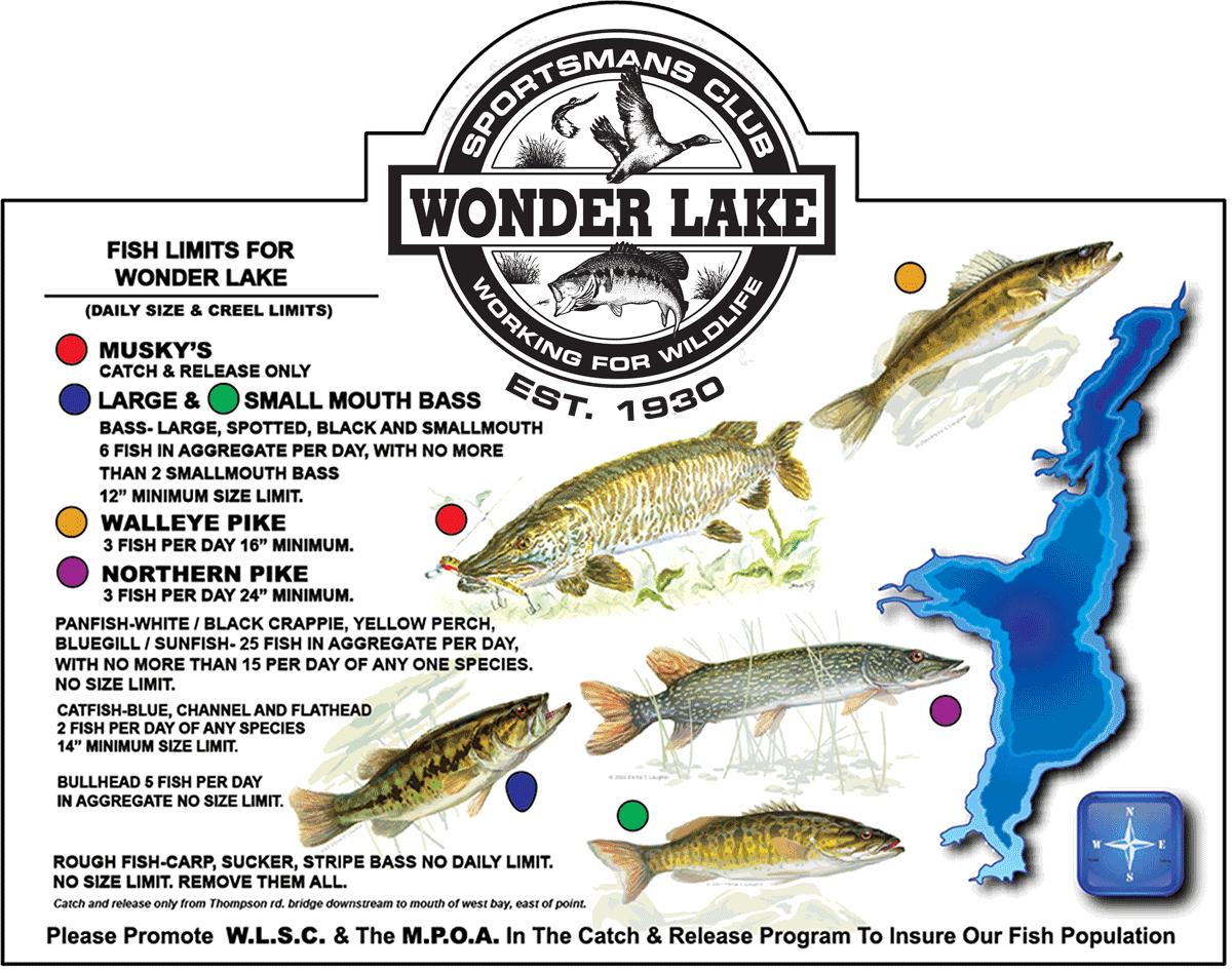 weather channel wonder lake il fishing regulations