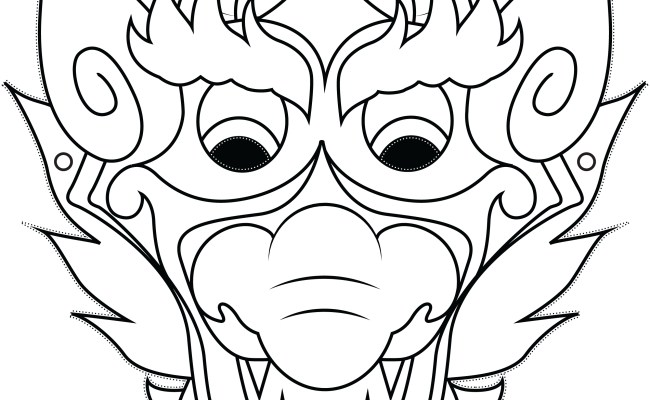 Related To Chinese Dragon Mask | Printable Templates & Coloring Pages