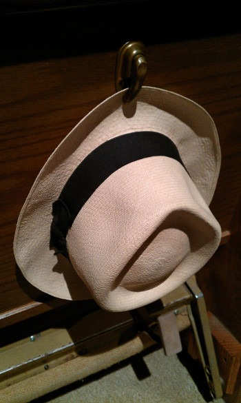 The hat in question: Taken at Sacred Heart, Mount Pleasant (no mountains anywhere), MI