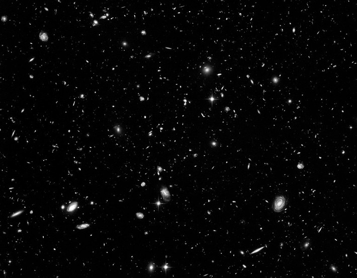 From the Hubble deep field.