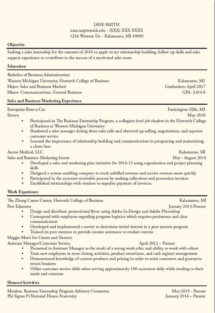 wmu resume critique