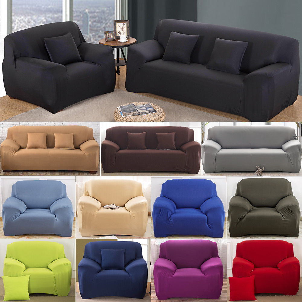 Sofa Covers Uk Details About Uk 1 4 Sofa Covers Couch Slipcover Stretch Elastic Fabric Settee Protector Fit