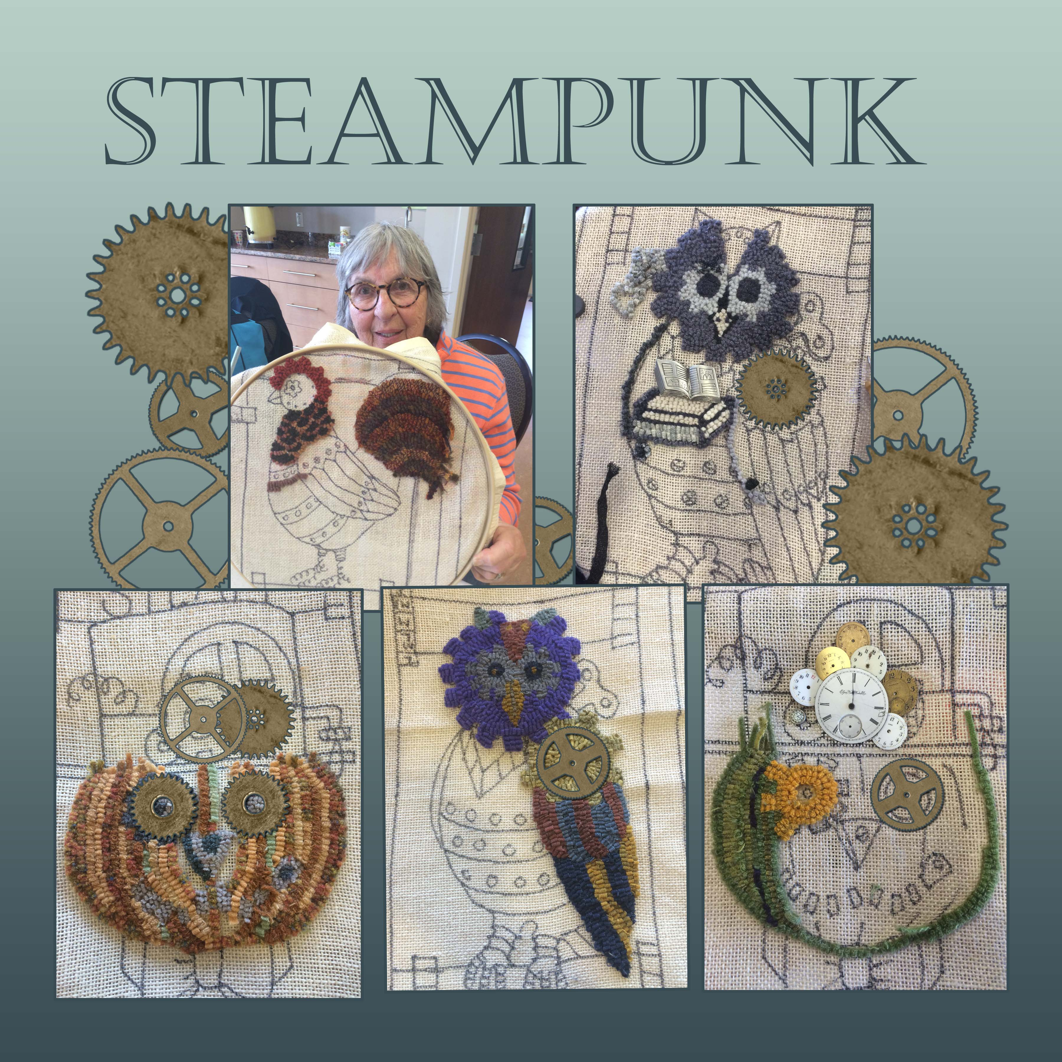 Steampunk Ideas Donna Hrkman 2016 Wnc Rug Hooking Guilds