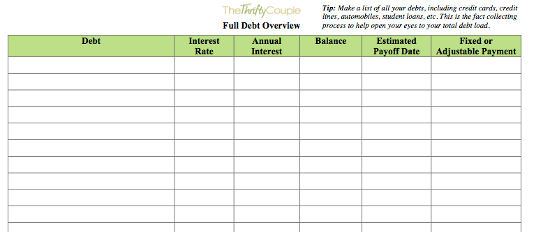 Be Intentional Challenge #21 - Create Your Debt Overview (with - debt payoff calculator