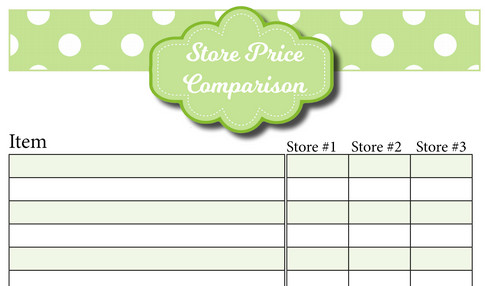 Take Back Your Finances #20 Save More Grocery Money With Free Price - Shopping List And Prices