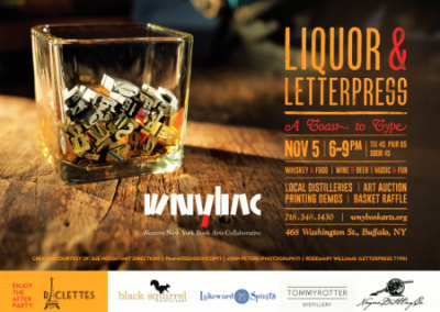 wnybacs 2nd annual liquor and letterpress fundraiser
