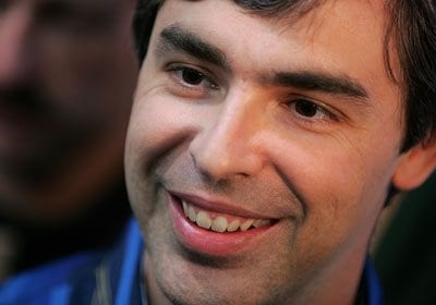 A picture of Larry Page, the founding CEO of Google