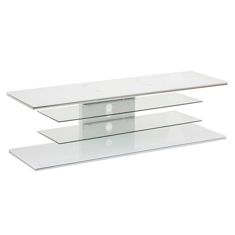 Tv Rack Glas Mit Rollen 140 Cm Breites Tv Rack Mit Glas Made In Germany - Silborca