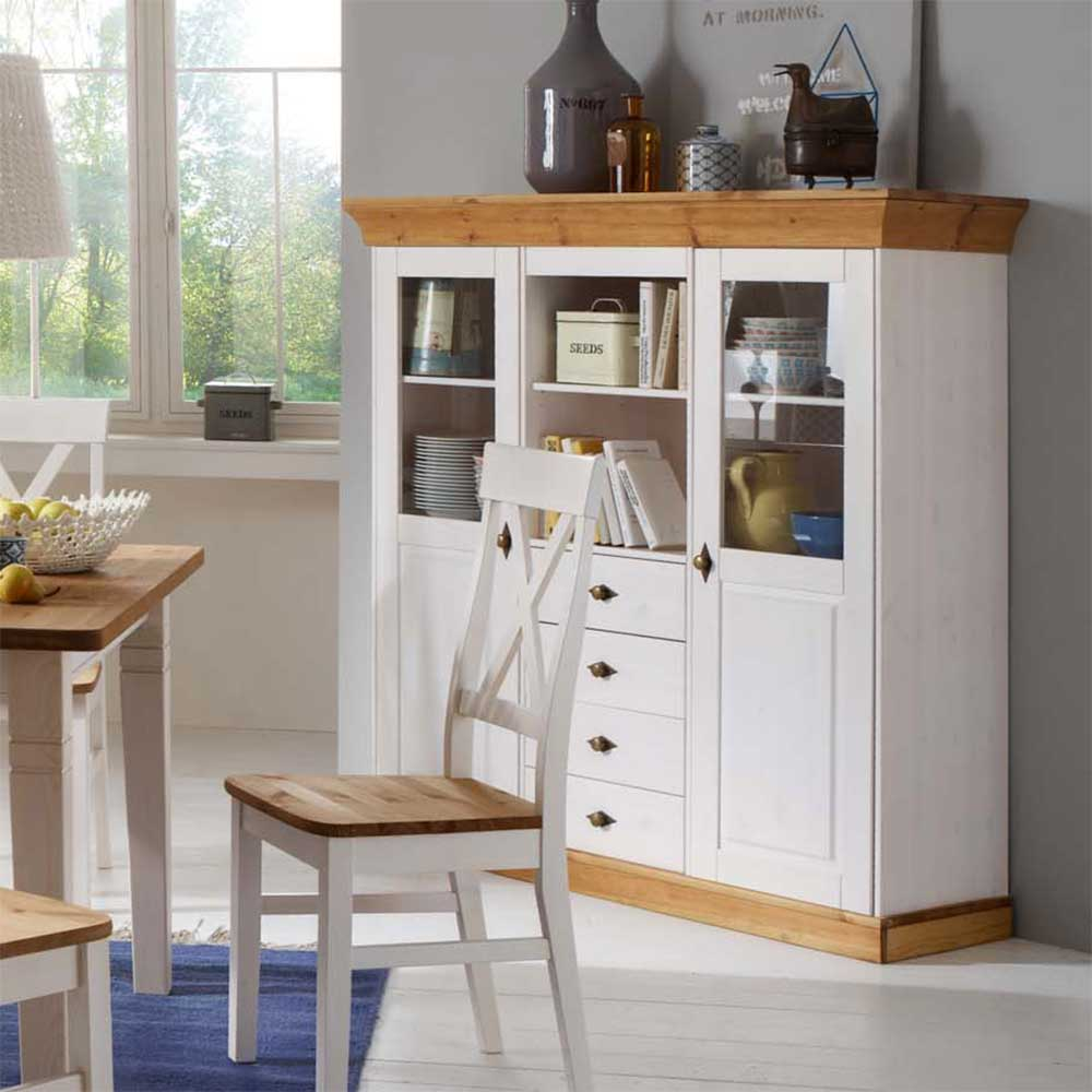 Esszimmer Weiß Landhausstil Esszimmer Highboard Sibiuta Im Landhausstil