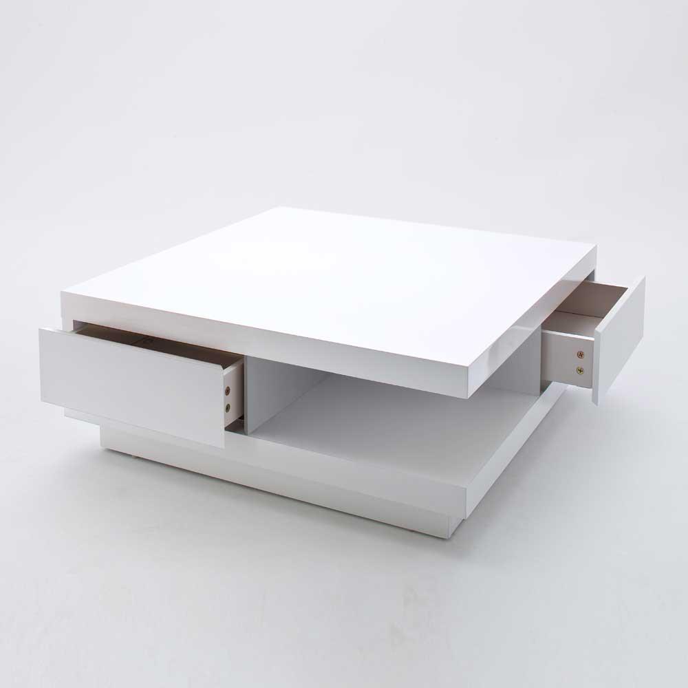 Couchtisch Hochglanz Weiß Mit Schublade