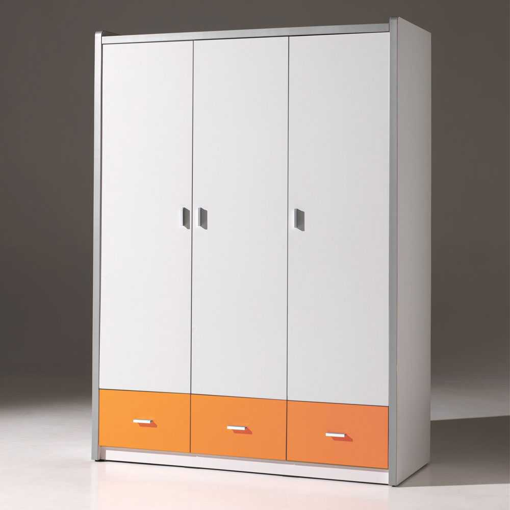 Kinderzimmerschrank Weiß Kinderzimmerschrank Moonio In Weiß Orange