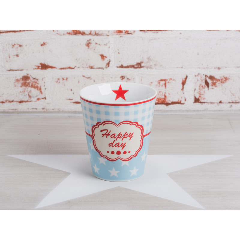 "Spruch Küche Licht Aus Krasilnikoff - Happy Mug Becher ""happy Day"". Blauer Becher"