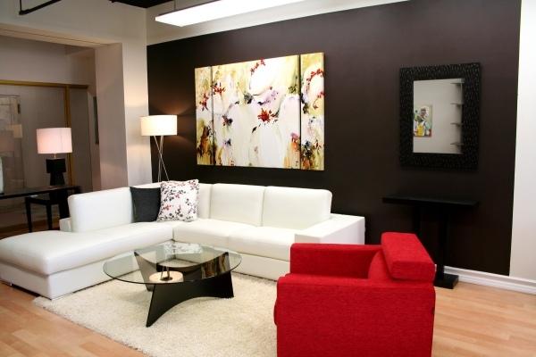 Hinreißende Wohnideen In Rot-Schwarz-Weiß. Awesome Wohnzimmer Rot