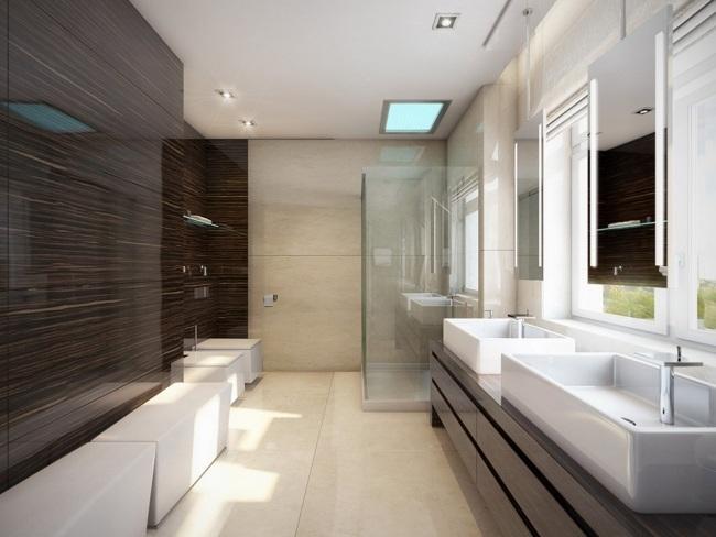Badezimmer Fliesen Dunkel