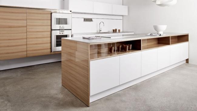 ... Polished Wood \/ White Kitchen Interiors Pinterest   Moderne Kuchen  Designs Eggersmann ...