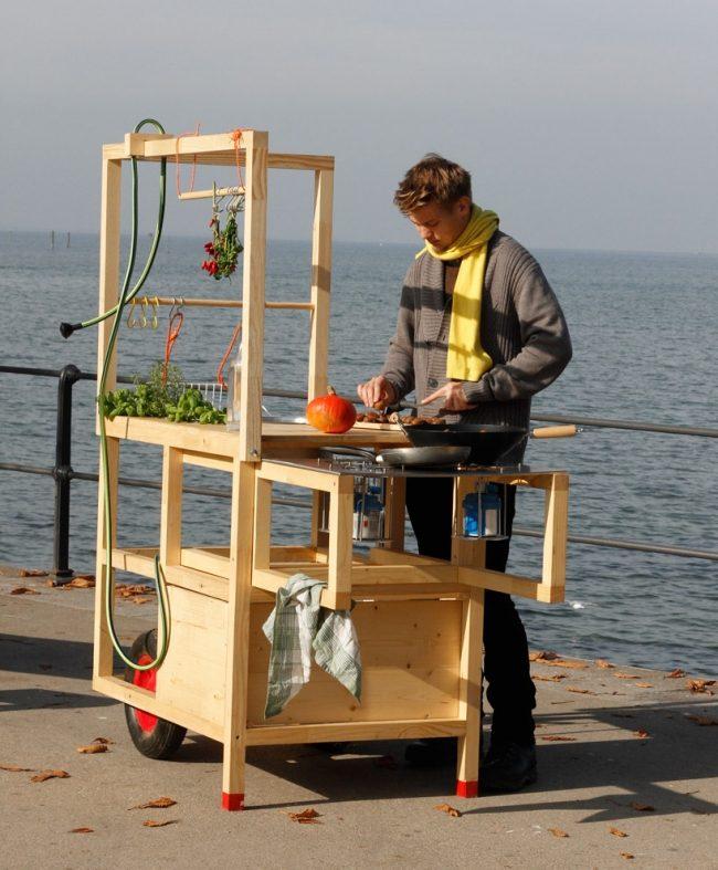 mobile Küche für draußen Outdoor Kitchen Pinterest Kiosk - outdoor küche holz