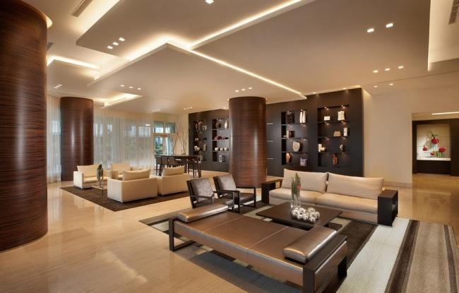 wohnideen zimmer luxuriös gestalten trennwan mit dekoration - wohnideen für wohnzimmer