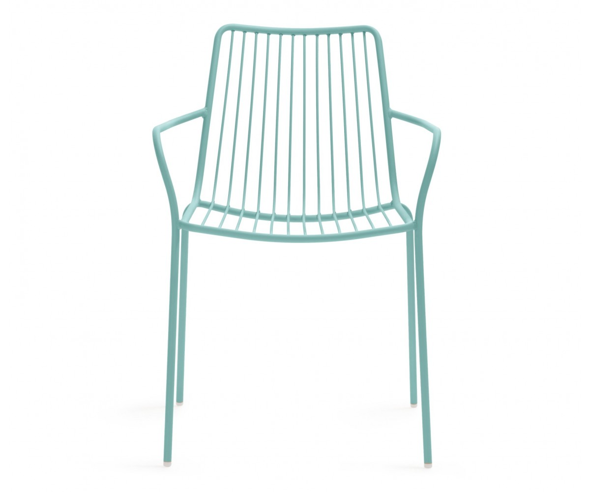 Gartenstuhl Azur Blau Mit Armlehne Metall Stuhl Azur Blau Metall