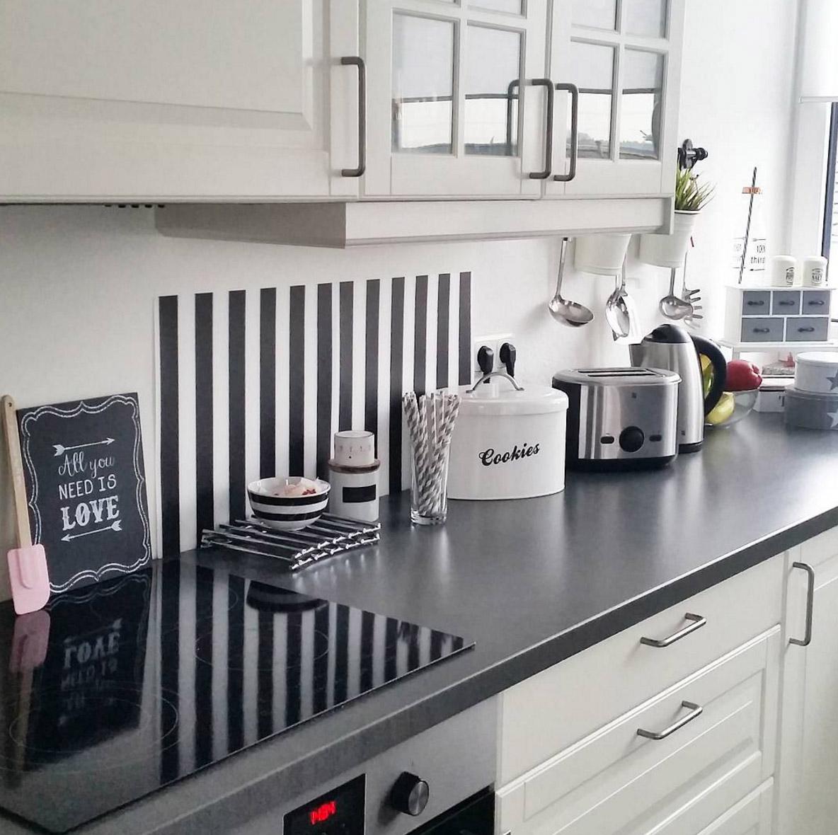 Weiße Küche Graue Arbeitsplatte Beste Küche Design Ideen