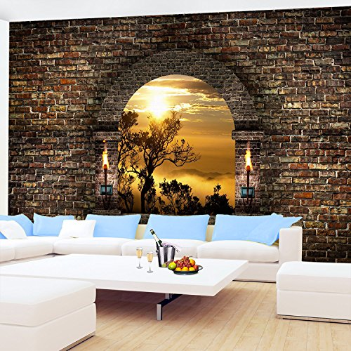 Couchtisch Vidaxl Vlies Fototapete 'tropical Sunset'