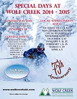 Wolf Creek Special Days Poster