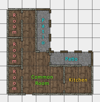 Twin Feather Inn: ground floor layout