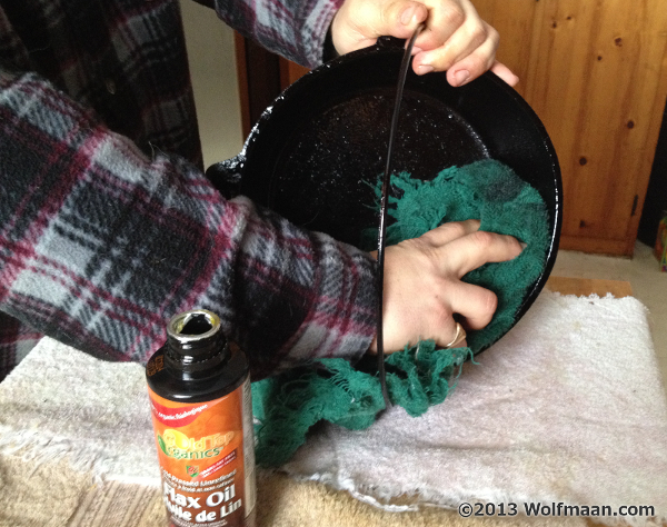 Wiping Flax Oil off Dutch Oven