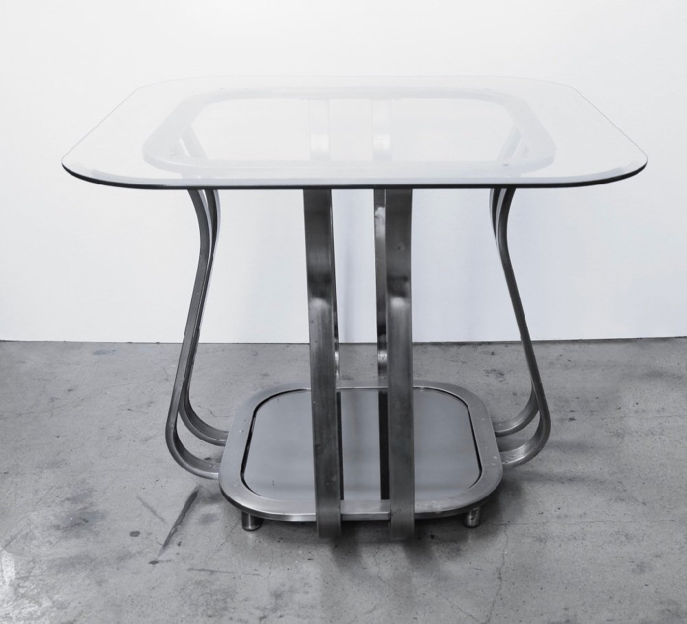 Metal Glass End Tables Pair Of Metal And Glass End Tables Modern Inventory Wolfs