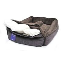 Slate Grey Fleece Luxury Cradle Dog Bed (Large, Extra ...