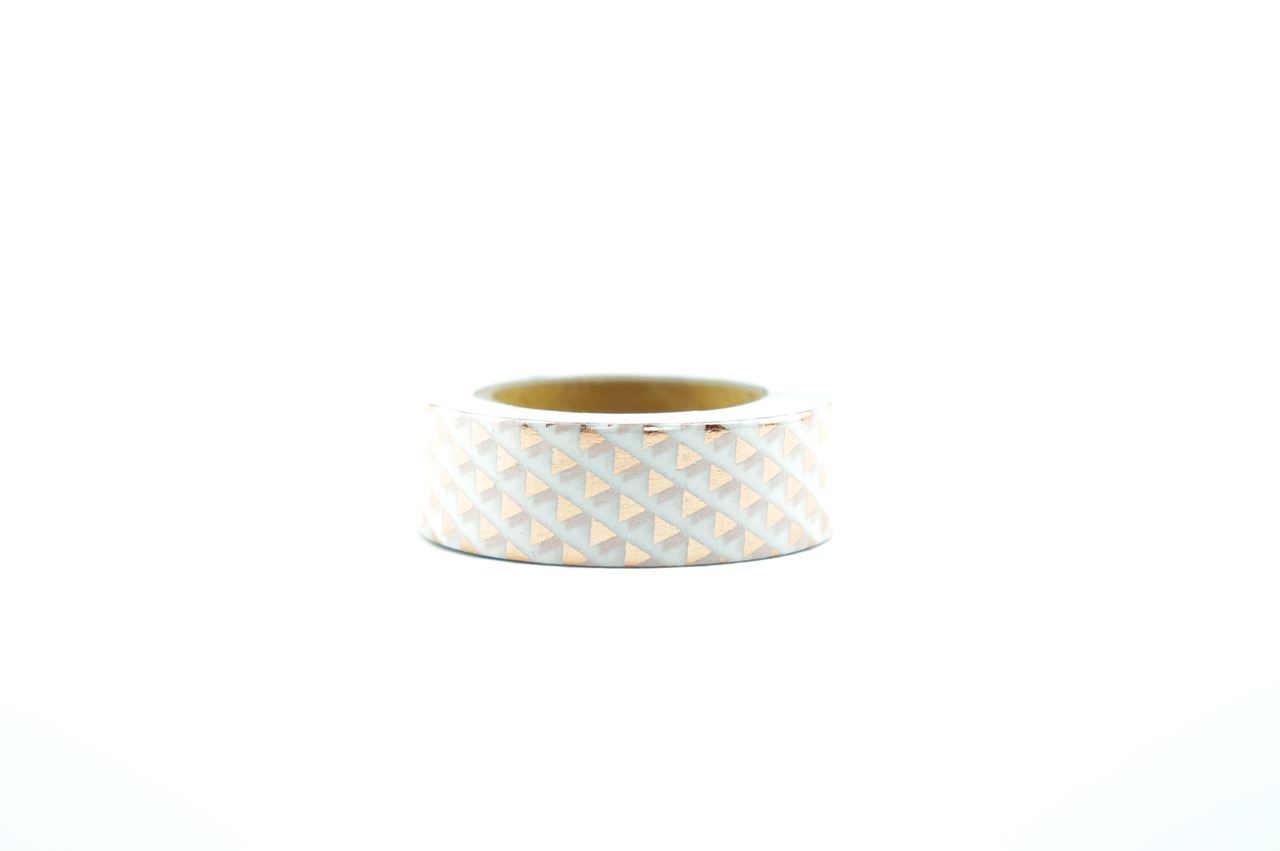 Wo Gibt Es Washi Tape Foil Washi Tape Bronze Mini Triangles Wolkenweiss Paper