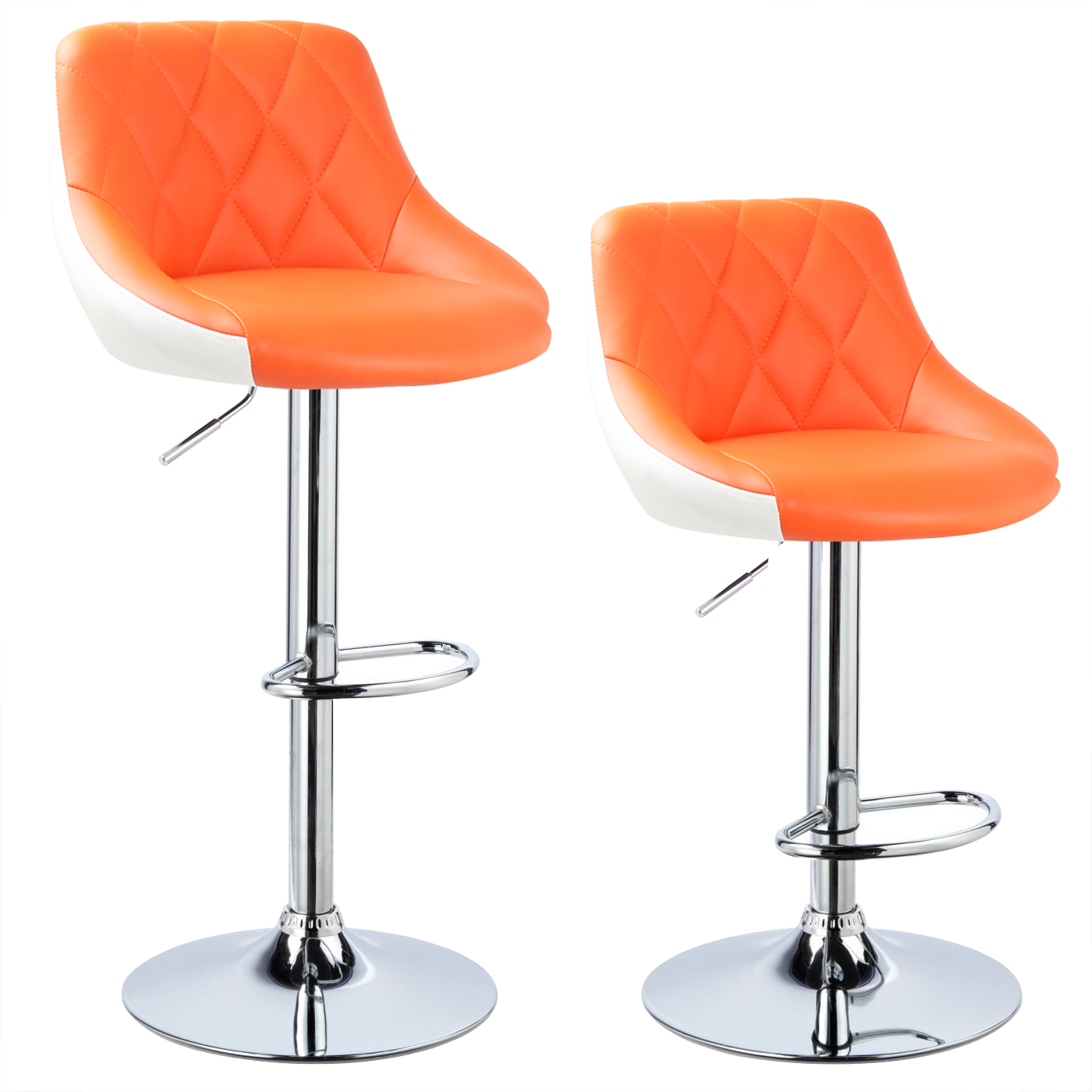 Kitchen Swivel Bar Stools 2 X Bar Stools Faux Leather Breakfast Kitchen Swivel Stool