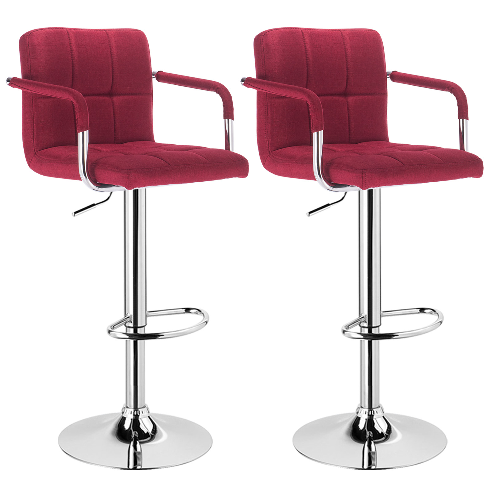 Songmics Lot De 2 Tabourets De Bar Stool Tabouret De Bar Lot De 2 En Lin Avec Accoudoir Cuisine