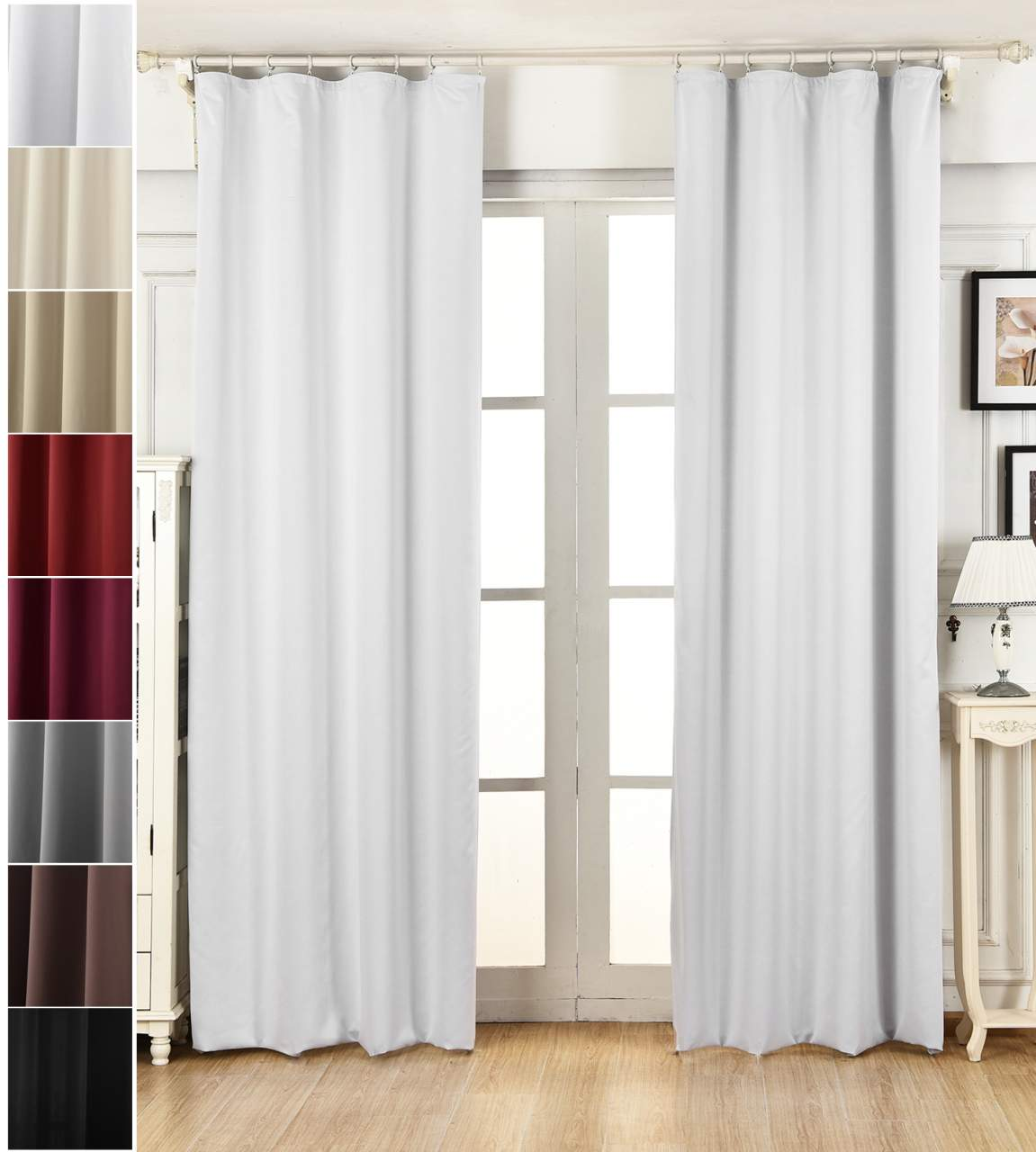 Blackout Curtain With Curling Tape Woltu Eu - Thermo Vorhang Outdoor