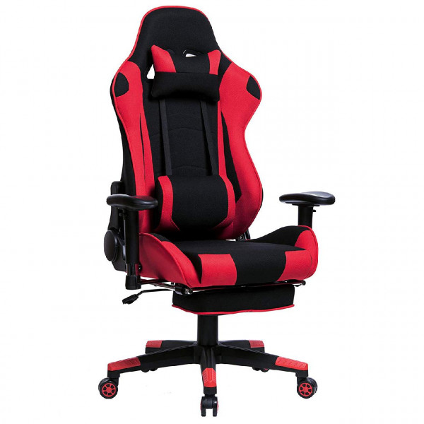 Couch Stoff Gaming Chair Made Of Fabric With Footrest In Ergonomic