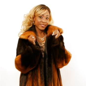 Degrade Whiskey Mink Coat