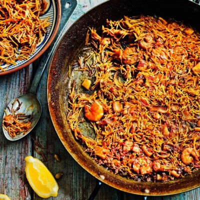 Tapas recipes - Omar Allibhoy's Paella with Pasta - Woman And Home