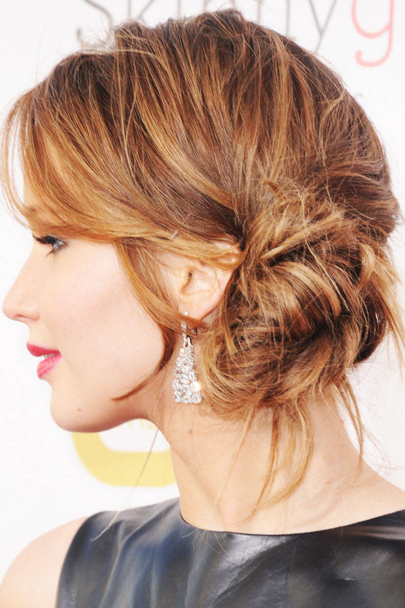 Curly Short Hair Routine Best Jennifer Lawrence 39;s Different Hairstyles Women