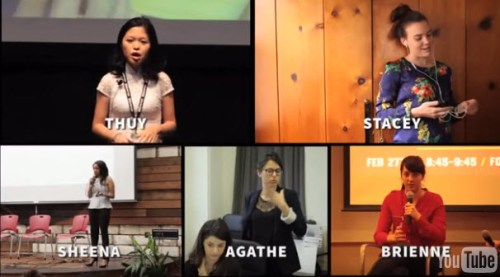 The Stars of She Started it: Thuy Truong, Stacey Ferreira, Brienne Ghafourifoar, Sheena Allen, and Agethe Molinar