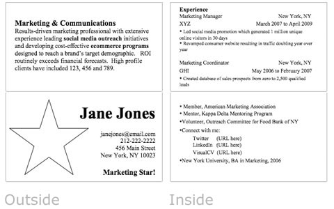 Resume Business Card Women For Hire - Business Resume