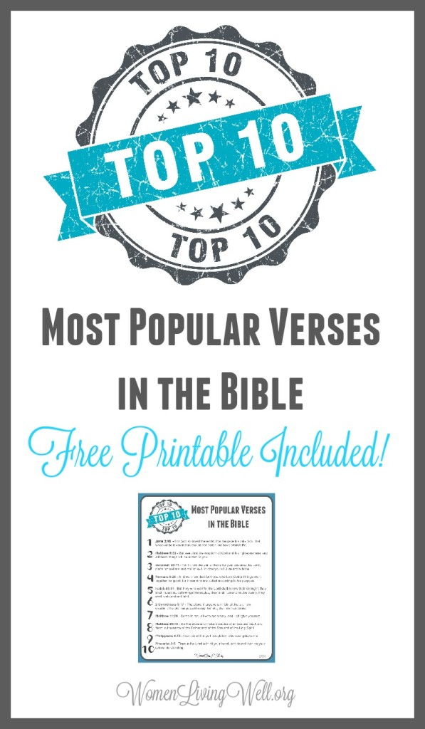 The Top 10 Most Popular Verses in the Bible {Free Printable Included