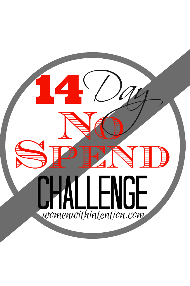 14 Day No Spending Challenge